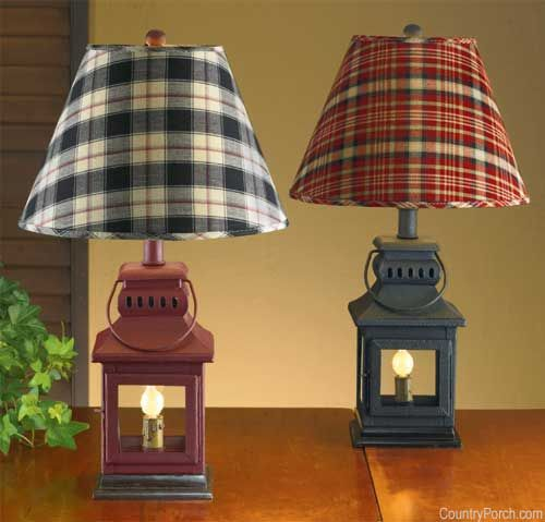 Iron Lantern Lamp - The Country Porch