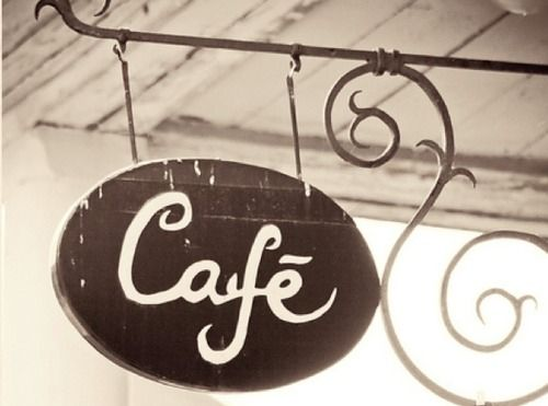 cafe sign, this would be really cool in a cafe style kitchen... browns/tans/reds/greens