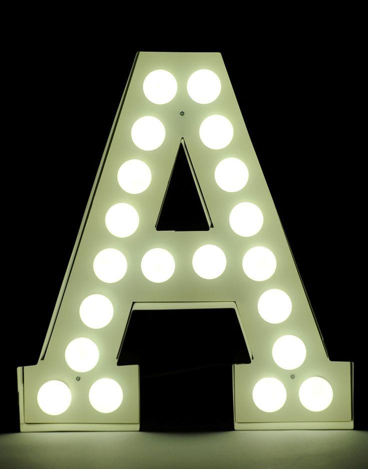 LED Light letter VEGAZ by Seletti design Selab