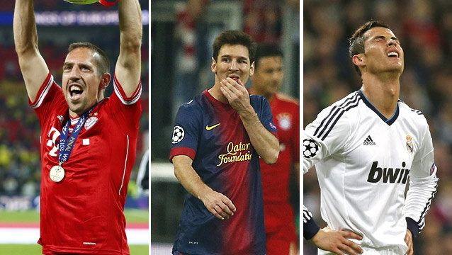 Ribery Beats Messi & Ronaldo to win UEFA Best Player in Europe award The Frenchman was the 1st player from a club other than Barcelona or Real Madrid to make the final three since the award Read more » http://www.iafrica.tv/?p=21965