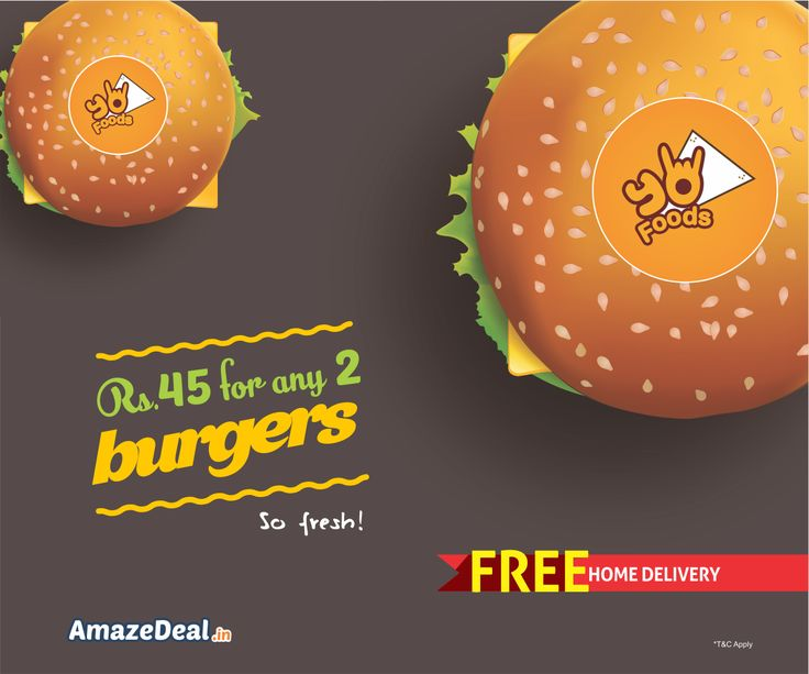 Rs.45 for any 2 #Burgers with Free Home Delivery. Snatch it At - bit.ly/AD-YoSandwich  #AmazeDeal #AmazingSavings #StayAmazed  #Food #Deals #Discounts #Offers  #Chandigarh #Mohali #Panchkula