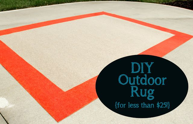 DIY Outdoor Rug for Less Than $25! >> including source for great rug @Home Depot