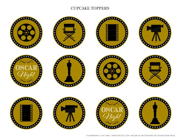 Free Oscar Night Party Printables from Printabelle   Catch My Party