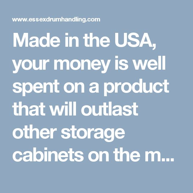 Made in the USA, your money is well spent on a product that will outlast other storage cabinets on the market. Why buy a flimsy industrial storage cabinet that will buckle under weight when you can buy a well-built, long-lasting cabinet that may be in the shop longer than anyone or anything else around? Strong Hold's cabinets can be custom designed and built to meet your shop's needs - give us a call to find out how we can help get you the product you need today.