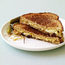 grilled gruyere and caramelized onion sandwiches- weight watchers