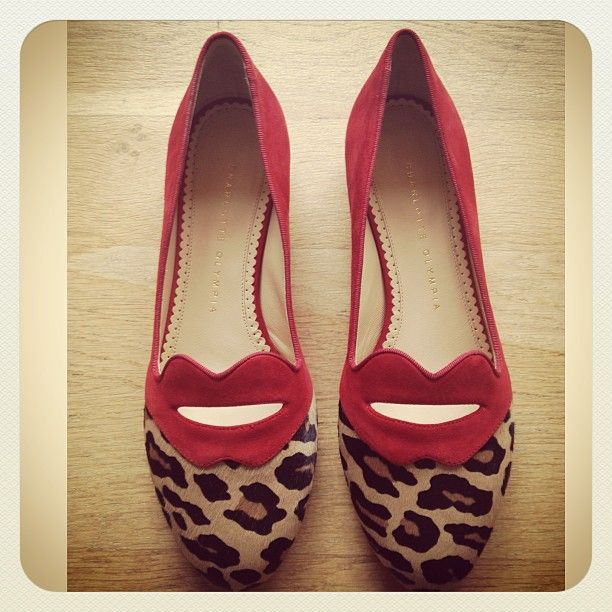 It's time for a kiss, in Charlotte Olympia Bisoux flats, in-store & online www.profilefashion.com. #ShoeofTheDay #CharlotteOlympia #Bisoux #Flats #Lips #Kiss #Red #Leopard #Love #Pretty #NewArrivals #ProfileFashion #Brighton @charlotte_olympia