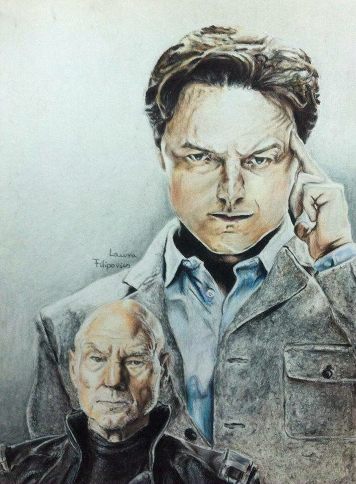Professor X (James McAvoy/Patrick Stewart) drawing done with Prismacolor Premier pencils. (more: Filipovics Art)