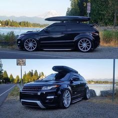 Stanced Range Rover Evoque on Vossens
