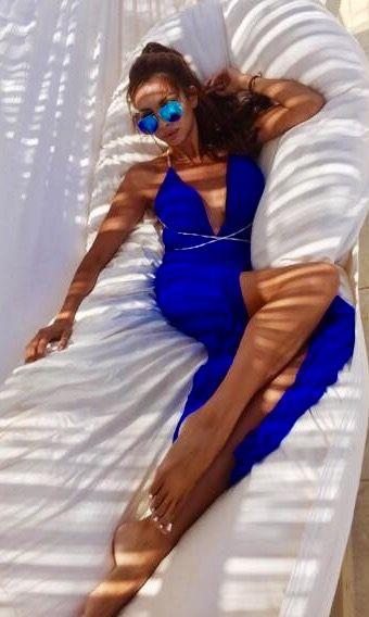 Grecian blue dress 💙