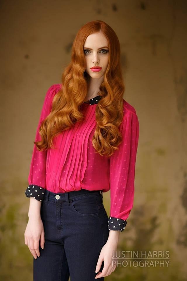 ©2013 JustinHarrisPhotography.co.uk Hot pink lips to match hot pink blouse. #makeup #editorial #FarhanaHennaMUA www.farhana.co.uk