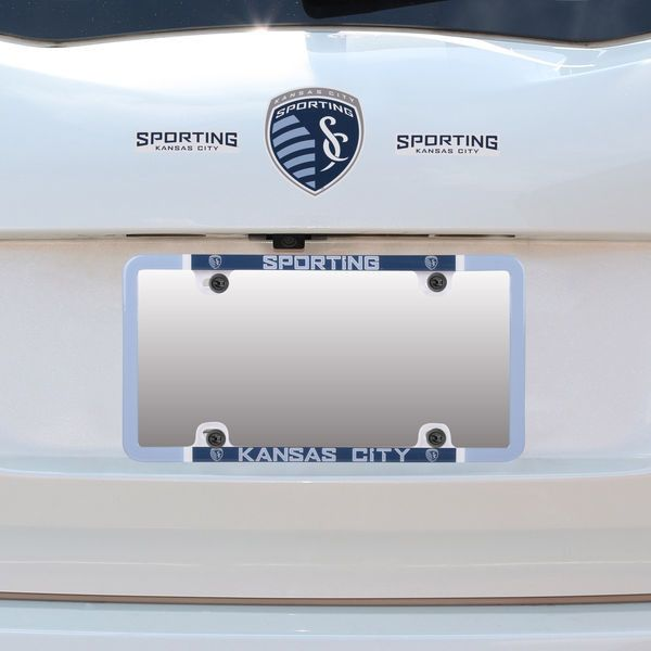 Sporting Kansas City Thin Rim License Plate Frame And Decal Set - Sporting kc car decals