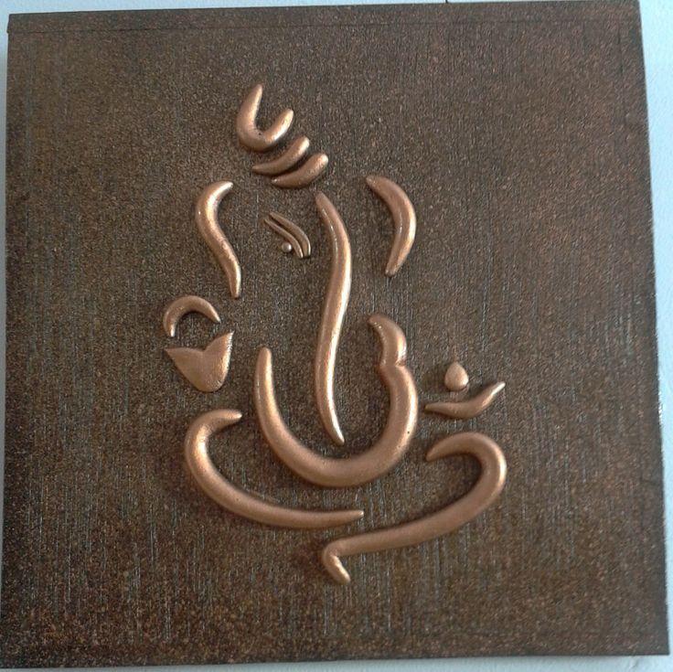 World O Ceramica - Copper Ganesha Wall-Hanging-Home Decor-World o ...