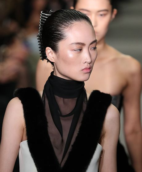 The Trend: Alexander Wang's Claw Clip—Talk about a throwback: Alexander Wang's nod to the '80s powerhouse businesswoman comes to life with a raked-back texture and an oh-so-retro claw clip.