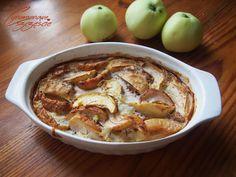 Cynamonowe szczescie: Kasza jaglana zapiekana z jabłkami, bakaliami i cy...