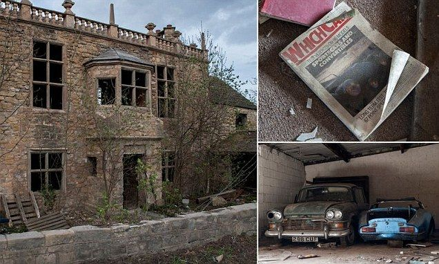 Abandoned 'doctor's house' has five vintage cars in the garage. The building, which is known as both 'Manor House' and 'Ivy Farm Manor', is believed to have belonged to a notorious psychiatrist who once discharged a patient two days before she killed an 11-year-old girl.