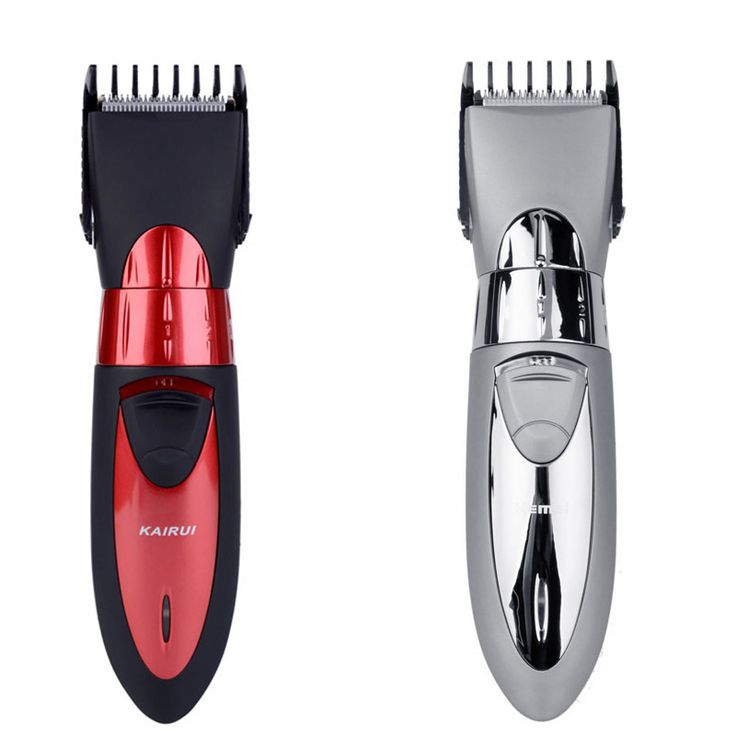 Professional Waterproof Men Baby Electric Hair Trimmer Red Cutter Beard Clipper Men's Body Care Tools With Stainless Steel Blade