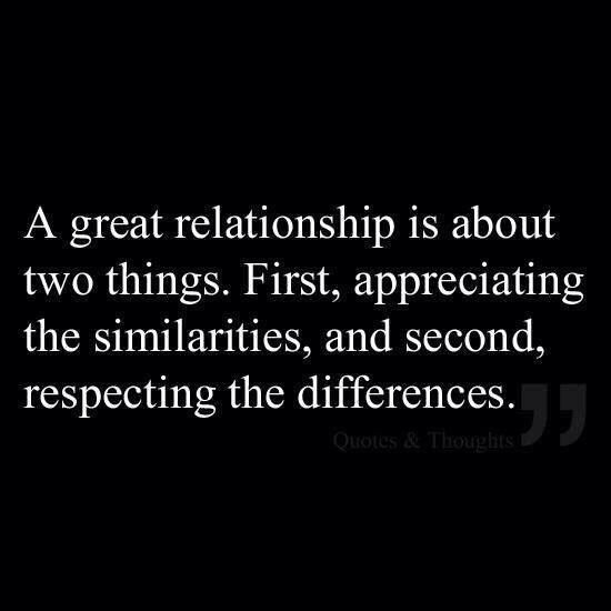 A great relationship is about...