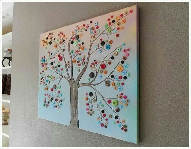 boom gemaakt met knopen #tree made with #buttons