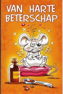 Van harte beterschap  #beterschapskaarten #grappige beterschapskaart