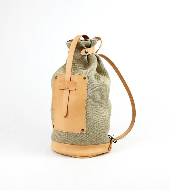 Vegetable tanned LEATHER BACKPACK  Boho backpack  Bags by ElMato
