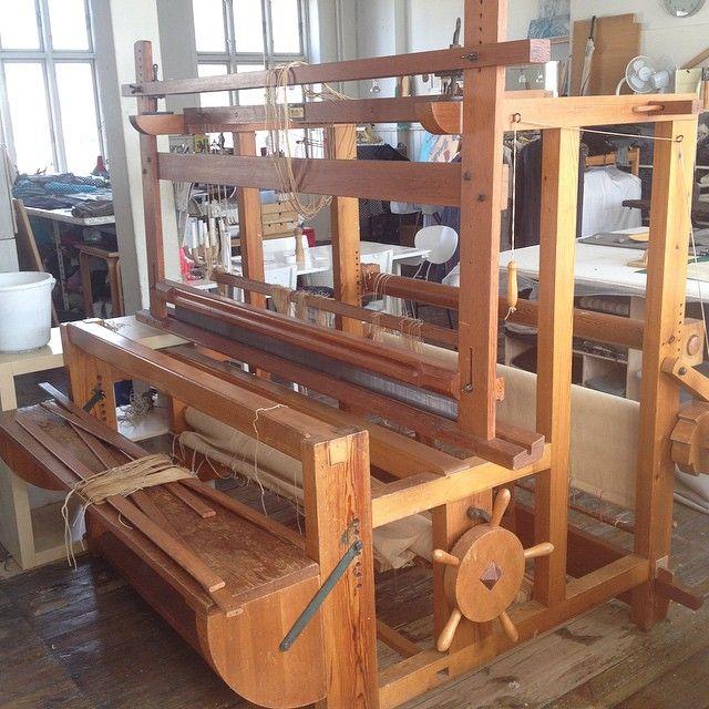 Lervad loom at Stine Linnemann Studio, Copenhagen 2015