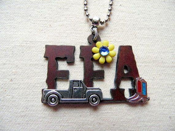 FFA Necklace FFA FFA Gift Country Girl Farm by WhippoorwillValley