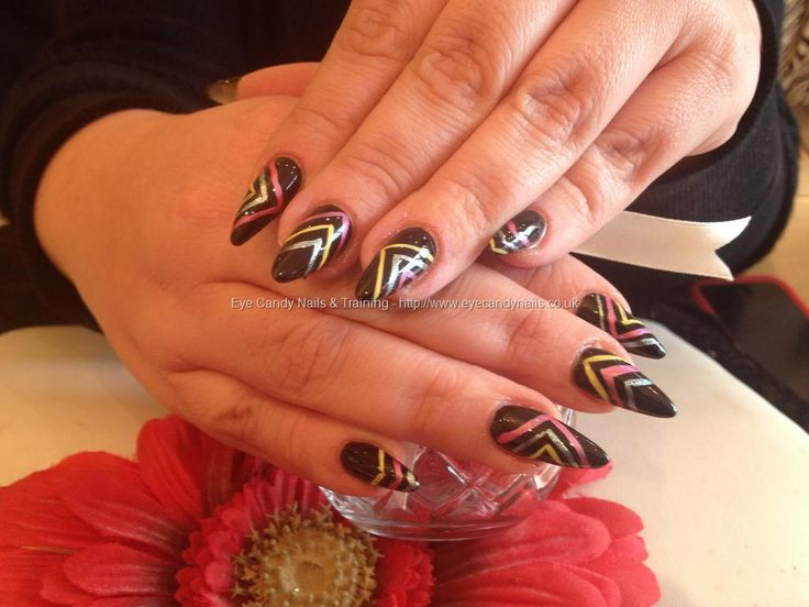Stiletto nails with #nail art