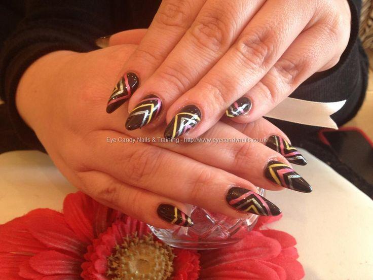 Stiletto nails with #nail art