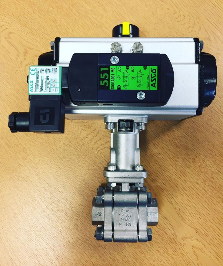 Pneumatic Actuated Ball Valve for Steam with customer's preferred pilot solenoid valve http://www.valvesonline.co.uk/pneumatic-actuated-screwed-ball-valve-for-steam.html #steam #valves #ballvalve #ballvalves #solenoidvalve #pilotsolenoid #pilotsolenoidvalve #actuated #pneumaticactuated #actuator #asco #engineering #actuatedvalves #actuatedballvalve