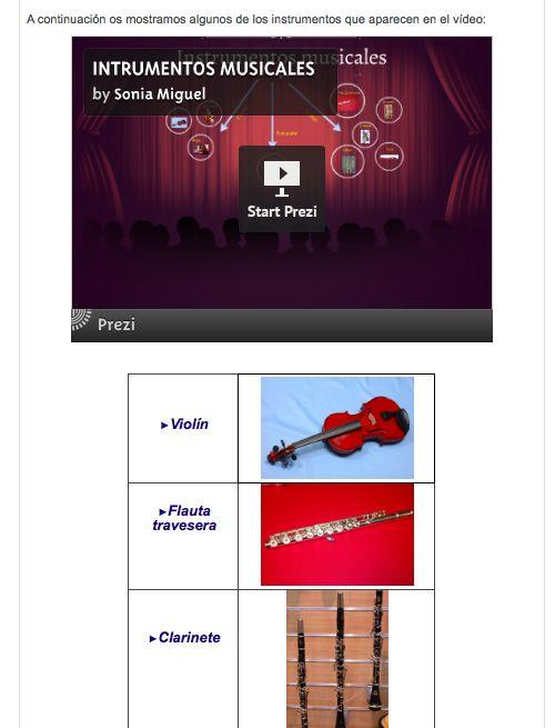 Instrumentos musicales (Trabajos de los alumnos/as)
