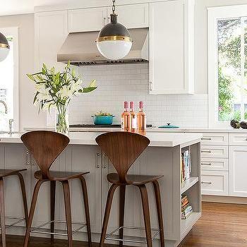 gray kitchen island with end cookbook bookcase kitchen bar chairsbar