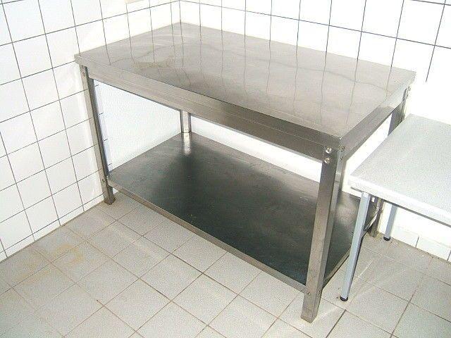 Edelstahl Arbeitstisch für Gastronomie 130 cm x 70 cm