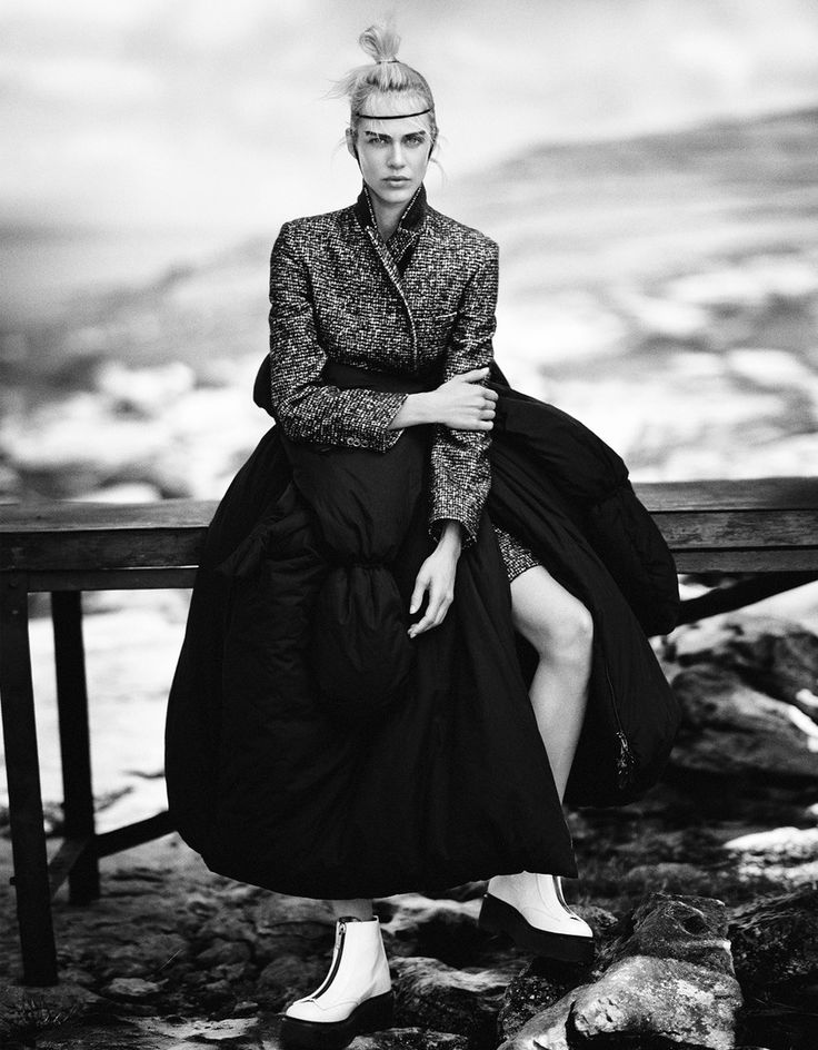 visual optimism; fashion editorials, shows, campaigns & more!: the nature of knits: aymeline valade by boo george for vogue japan january 2015