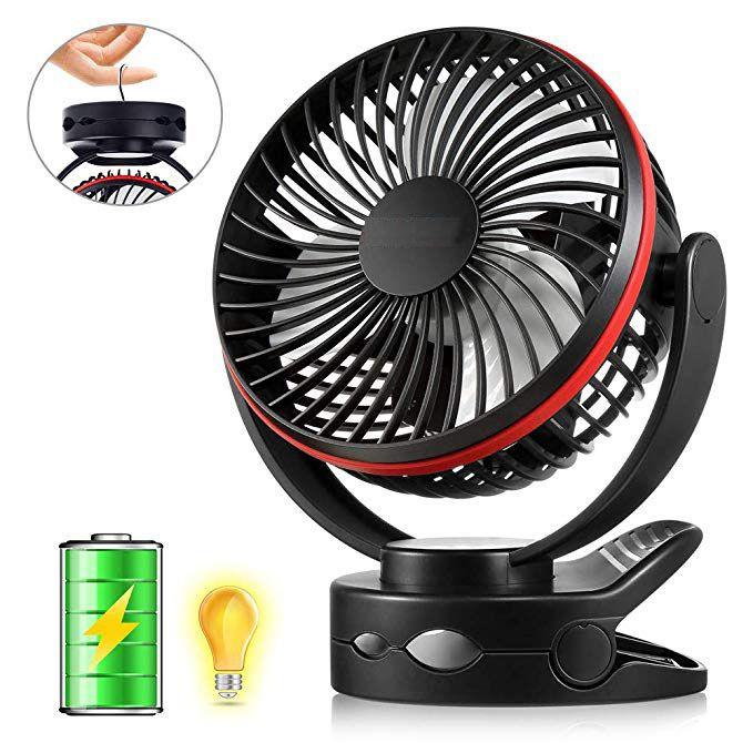 Clip Fan With Night Light Usb Desk Fan With Rechargeable 5000mah