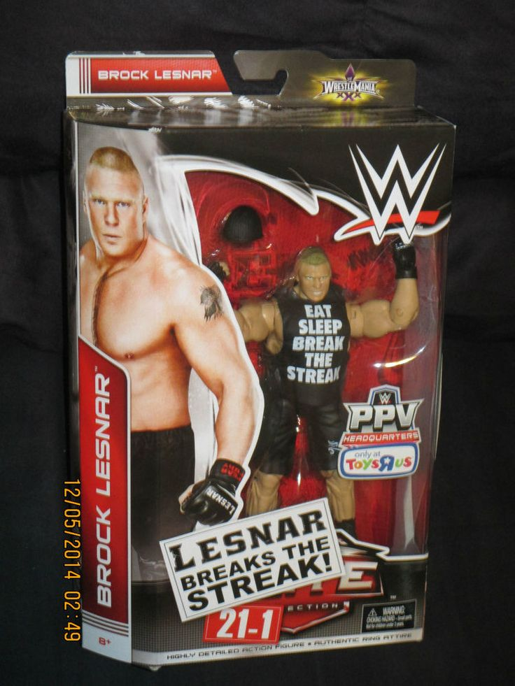 Brock Lesnar WWE Elite Breaks The Streak Toys R Us PPV Exclusive Figure-NIB  #Mattel
