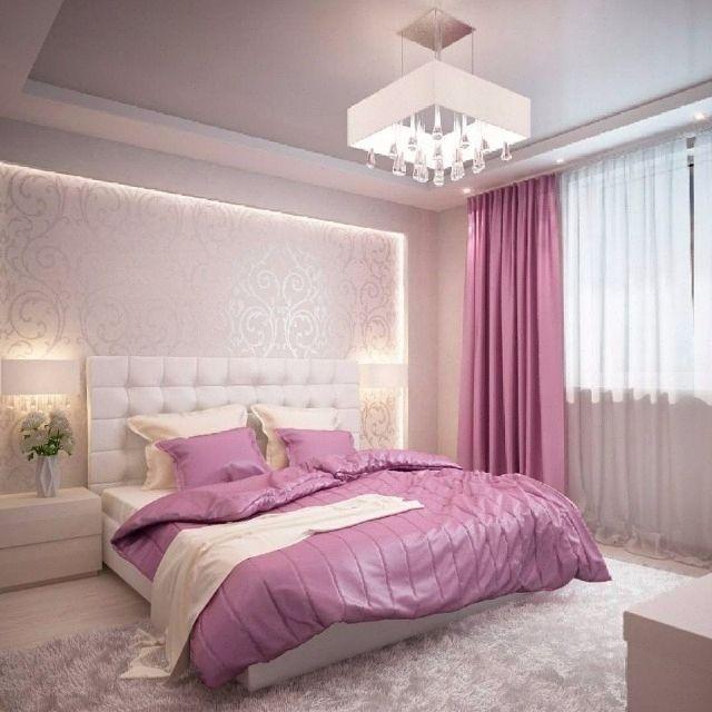 потолок и стены спальни
