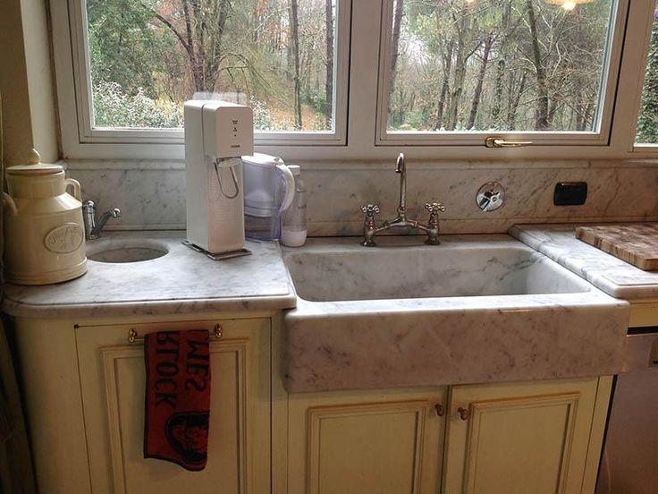 lavello marmo carrara