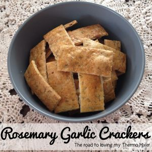 Rosemary Garlic Crackers | The Road to Loving My Thermo Mixer