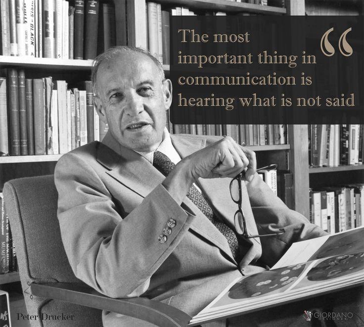 """La cosa più importante nella comunicazione è ascoltare ciò che non viene detto. """"cit: Peter Drucker""""  #lifequotes #Lifestyle #quoteoftheday #quotes #communication #dailyquotes #instaq8 #instaquotes #Karma"""