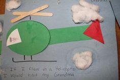 preschool transportation crafts | Air transport crafts for preschool kids