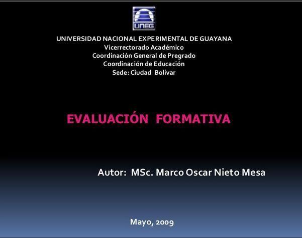 Evaluación Formativa - Aspectos Fundamentales | #Presentación #Educación
