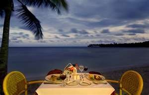 romantic dinner setting by the beach ; credit Dominican Republic ...