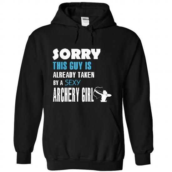 This guy is taken by an Archery - #funny tees #white hoodie mens. GUARANTEE  => https://www.sunfrog.com/LifeStyle/This-guy-is-taken-by-an-Archery-4560-Black-26435903-Hoodie.html?60505