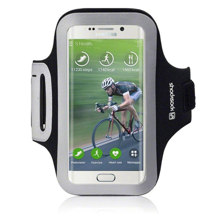 Shocksock Samsung Galaxy S6 Edge Premium Armband - Black