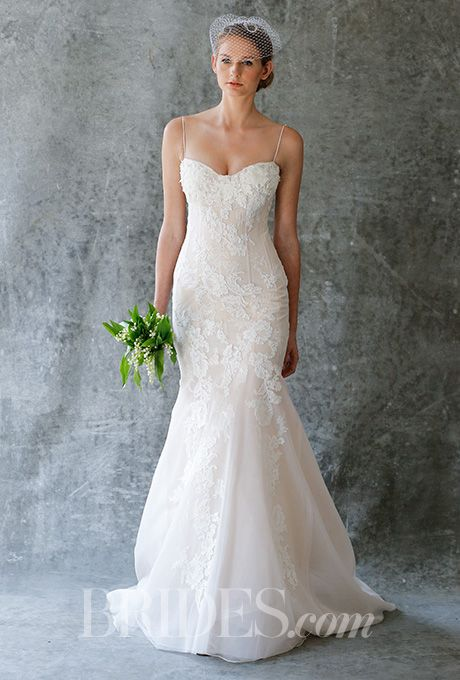 A fit and flare @jennyleebridal wedding dress | Brides.com