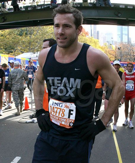I think I could chase Ryan Reynolds for 26.2 miles...