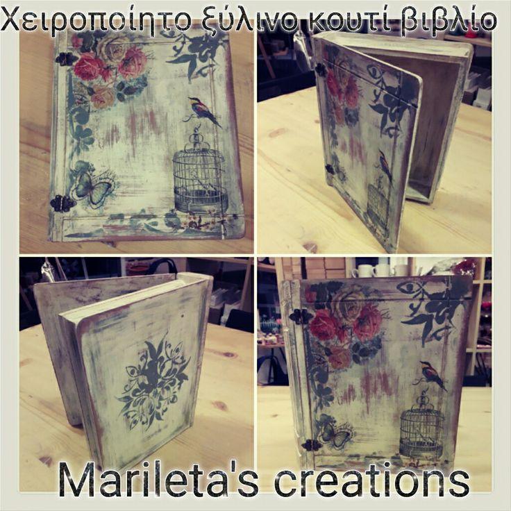 Vintage wooden book