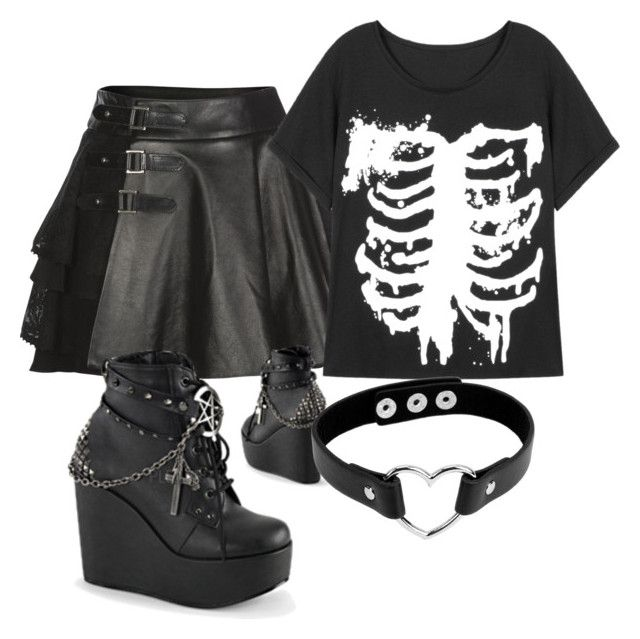 U0026quot;Untitled #254u0026quot; by sailorbacontime on Polyvore featuring Mairi Mcdonald Demonia goth ...