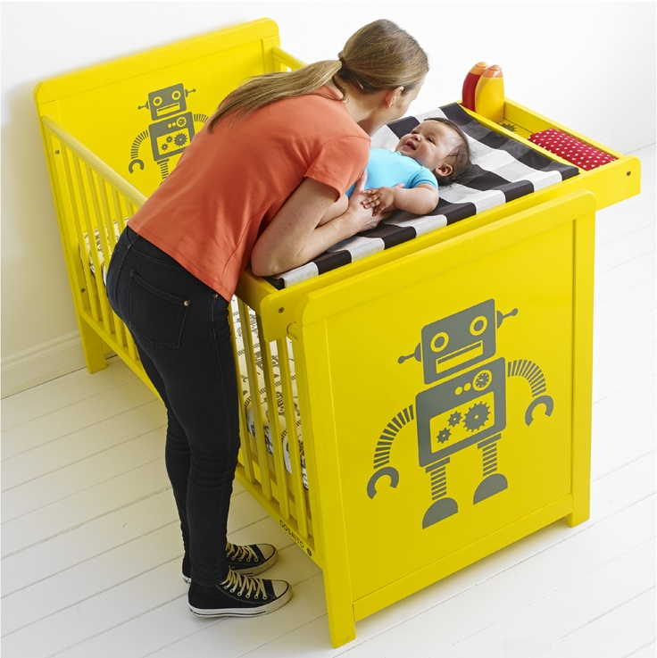 Cosattos 'Story' 3-in-1 Cotbed with Cot top changer. Pictured: 'My Robot' but also available in 'Babushka' (red) Available from September 2013