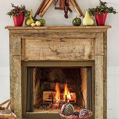 25+ best Distressed mantle ideas on Pinterest | Fireplace redo ...